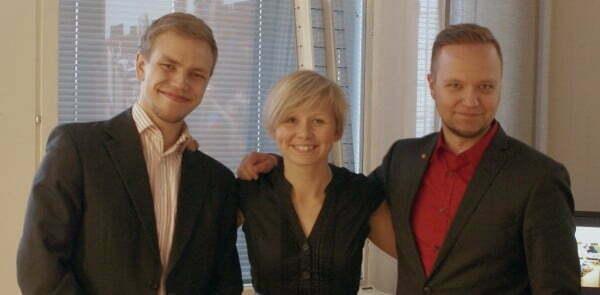 Kuva missä Jaakko Mustakallio, Anna-Kaisa Heinämäki ja Olli-Poika Parviainen